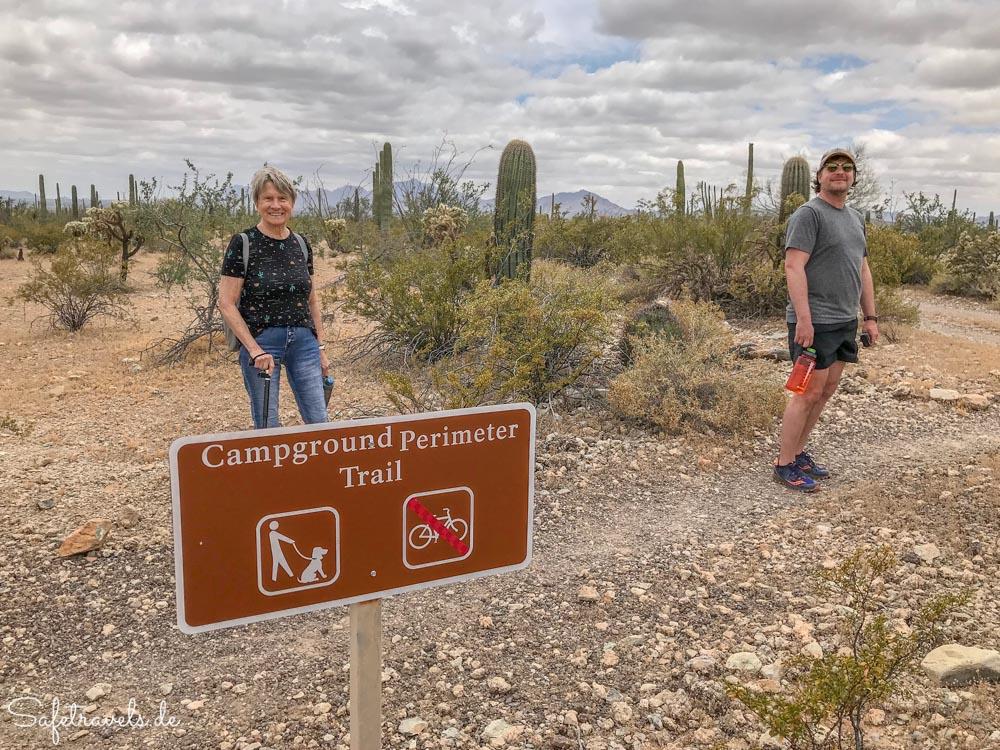 Organ Pipe Cactus National Monument - Campground Perimeter Trailhead