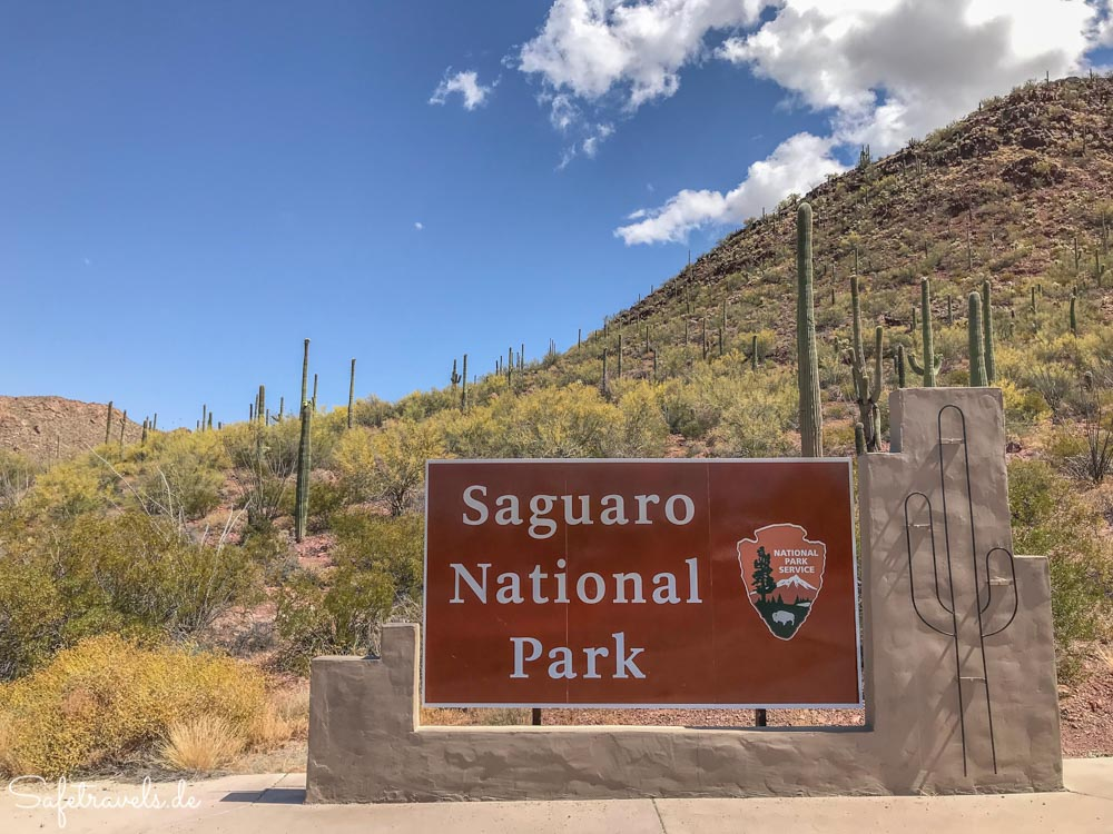 Saguaro National Park - Eingang zum Tucson Mountain Distrikt