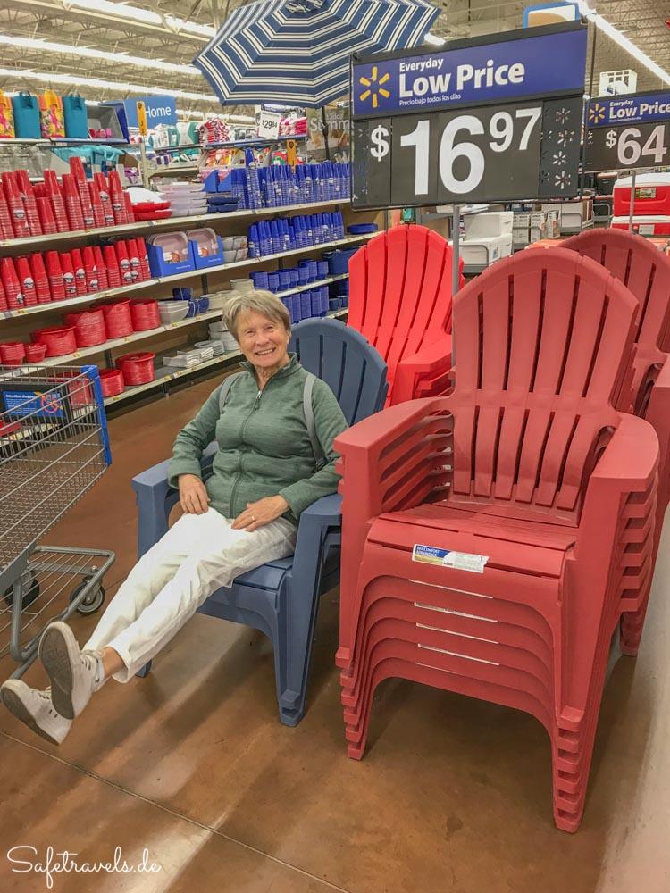 Abschiedsshopping beim Walmart