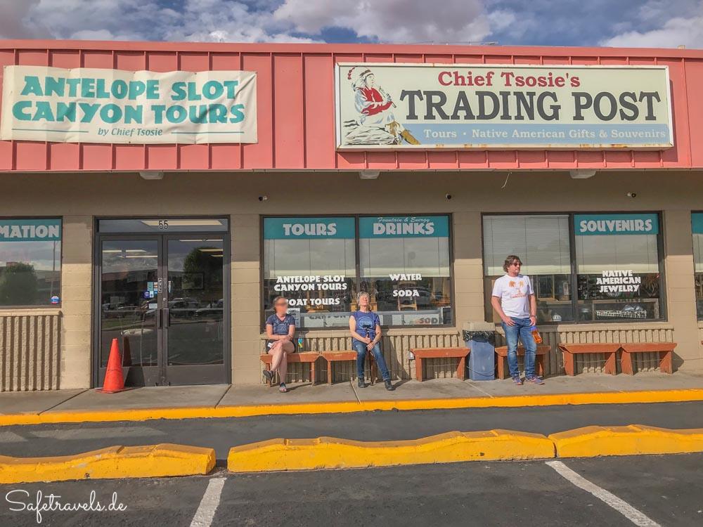 Antelope Canyon Tour - warten auf den Tourstart