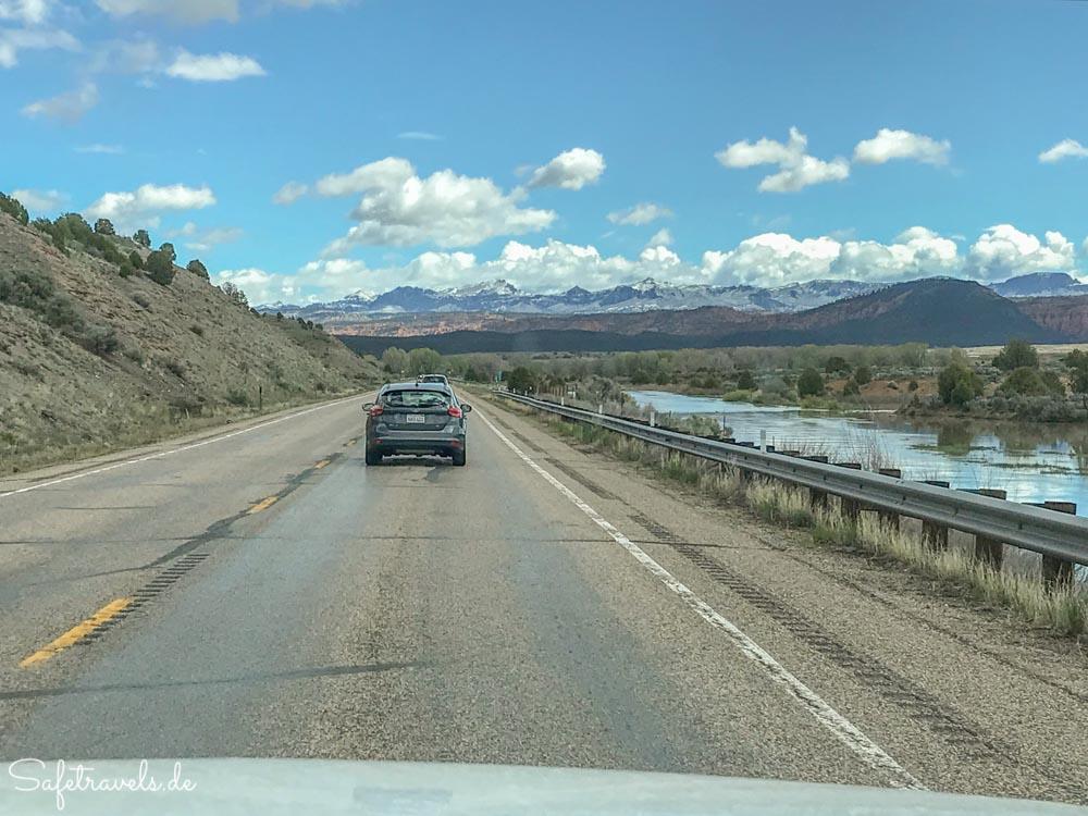 Auf dem Highway 89 nördlich von Kanab