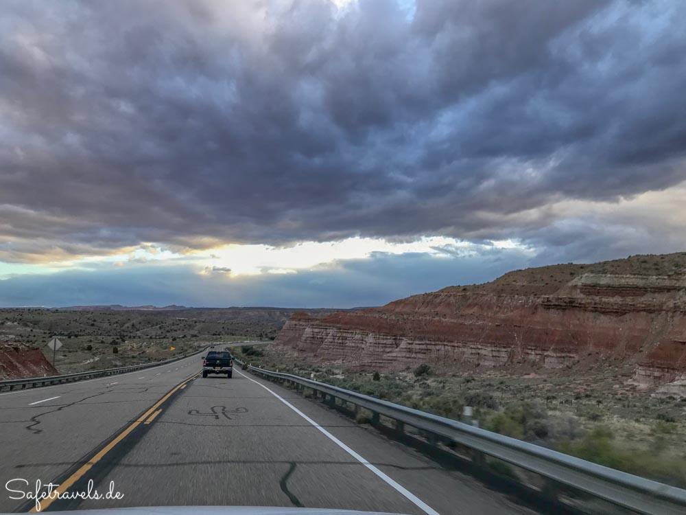 Auf dem Highway 89 zwischen Page und Kanab