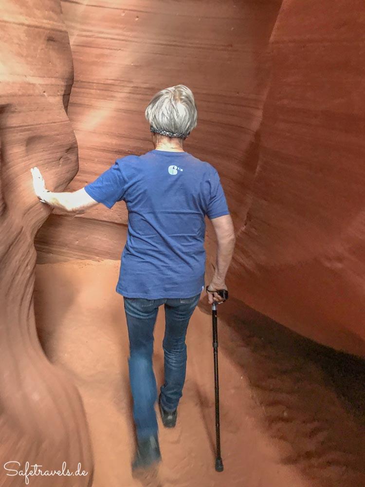 Auf dem Rückweg durch den Antelope Canyon