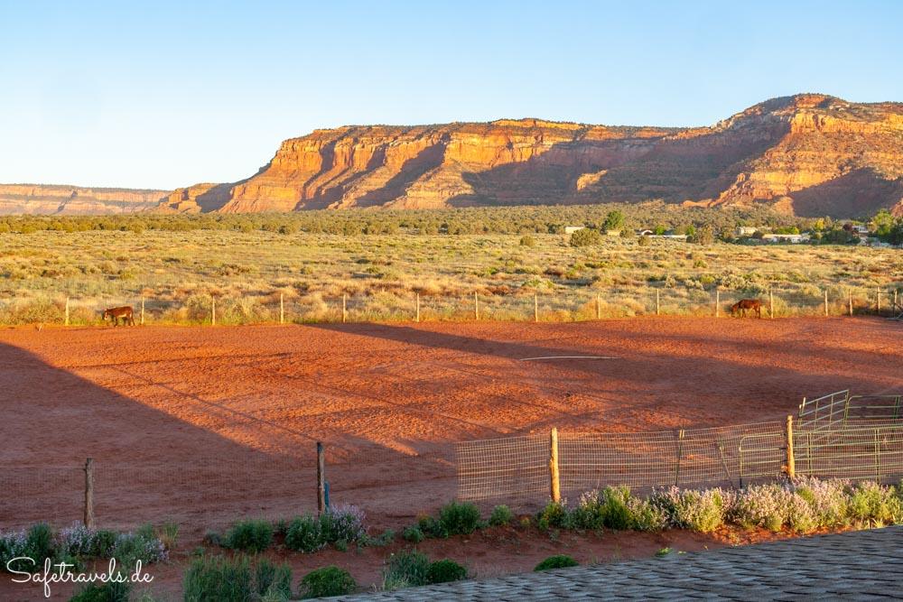 Burro Flats High Desert Lodge - die schönste Aussicht am Morgen