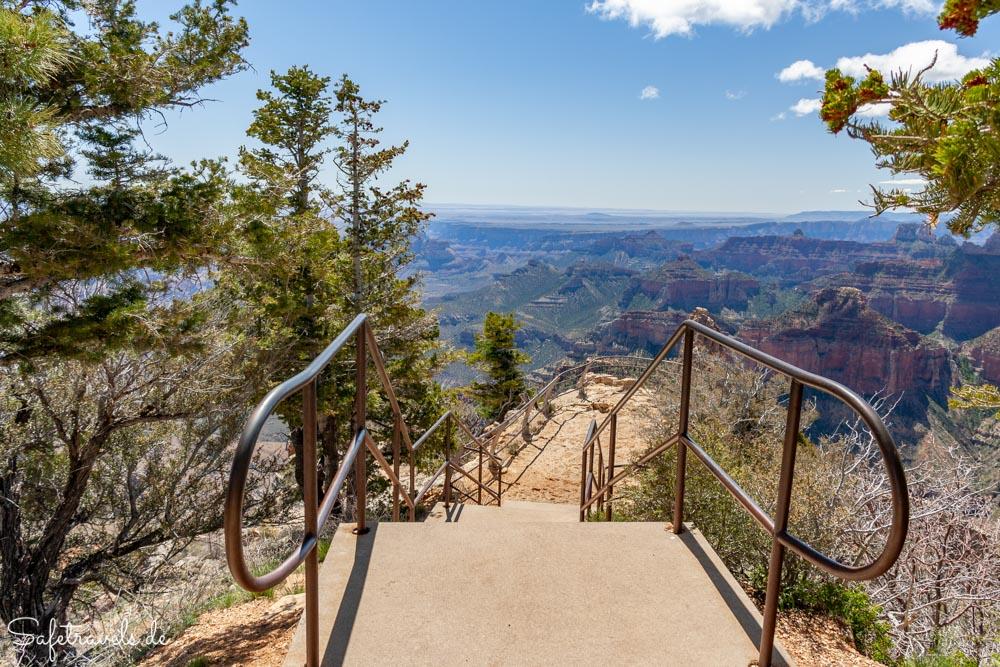 Point Imperial - Treppe zum Aussichtspunkt