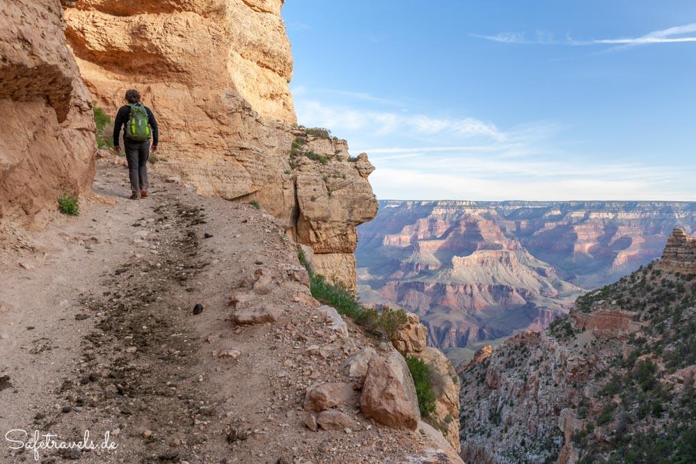 South Kaibab Trail - Die Mulis haben Spuren hinterlassen