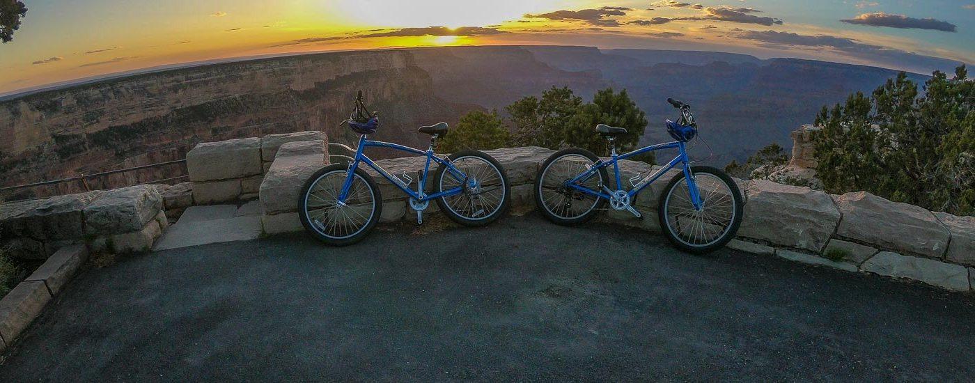 Grand Canyon Sonnenuntergang Fahrrad Blog Titel