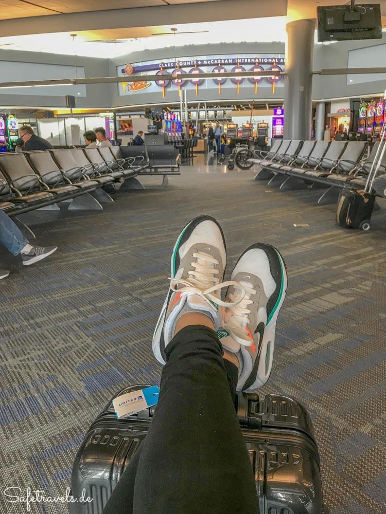 Las Vegas - Warten aufs Boarding