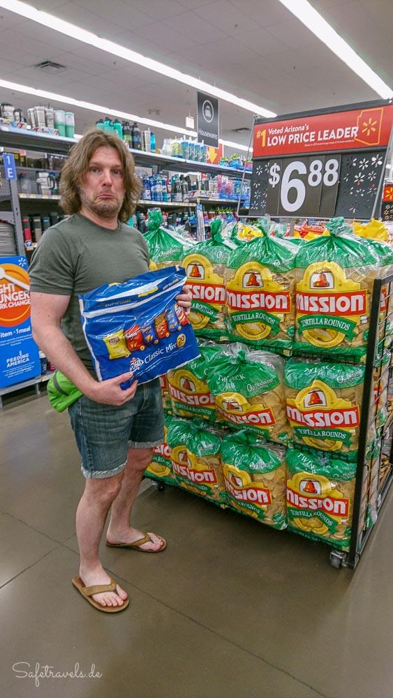 Walmart Shopping - die größte Chipstüte durfte nicht mit
