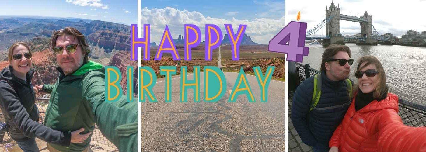 4 Jahre Safetravels Geburtstag Blog Titel