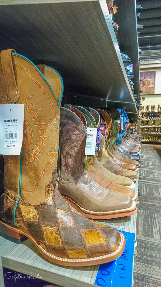 Las Vegas Shopping - coole Boots bei Boot Barn