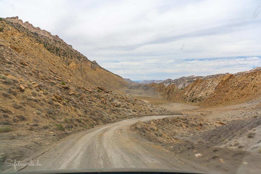 Cottonwood Canyon Road - wie auf einem anderen Planeten
