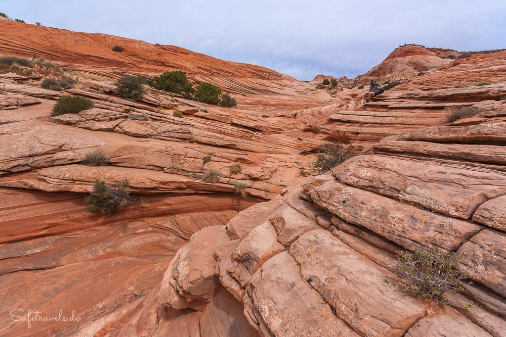 Mittagspause in einsamer Umgebung - Unnamed Canyon - Grand Staircase Escalante