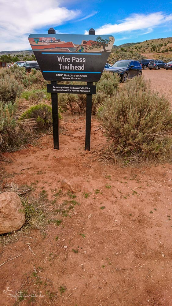 Wire Pass Trailhead in Utah