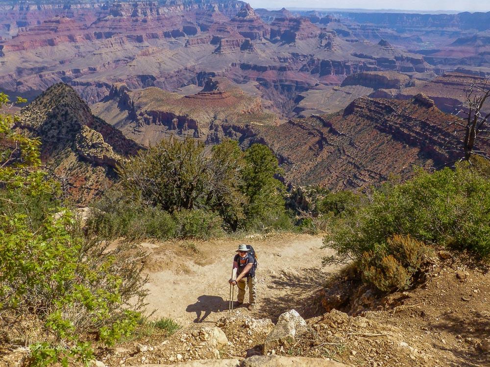 Ausftieg fast geschafft - Grandview Trail