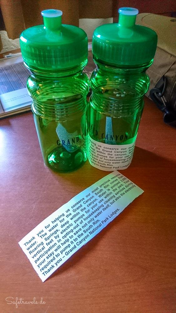 Geschenk von Xanterra: Wasserflaschen