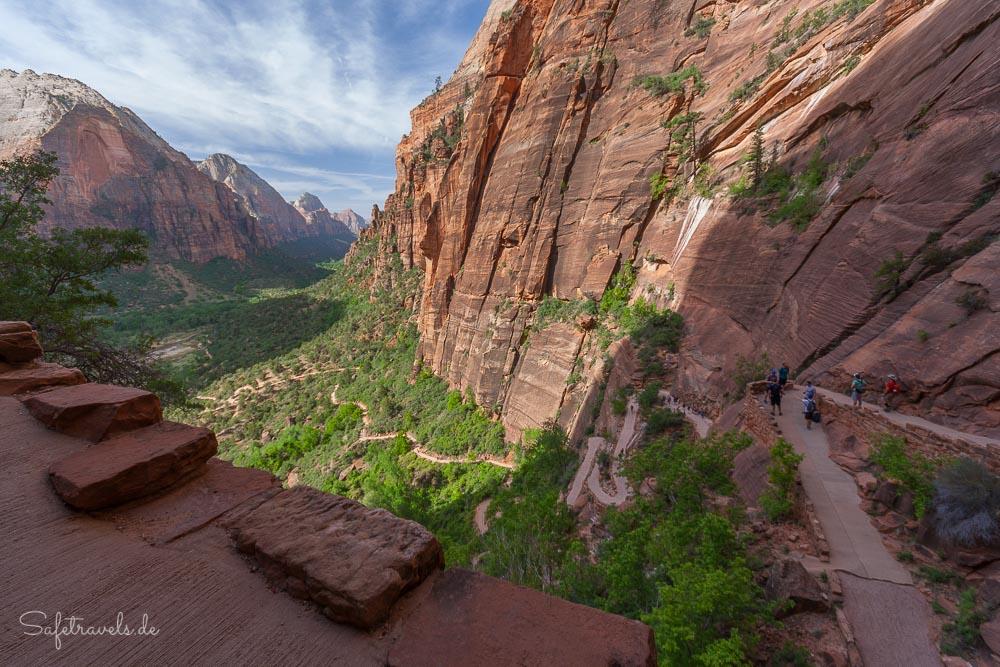 West Rim Trail mit Blick auf den Zion Canyon