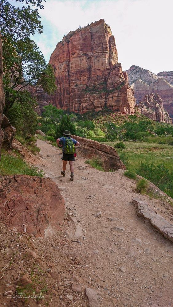 Zion National Park - Start der Wanderung auf dem West Rim Trail