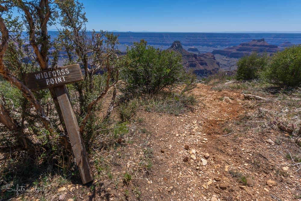 Am Ende des Widforss Trail