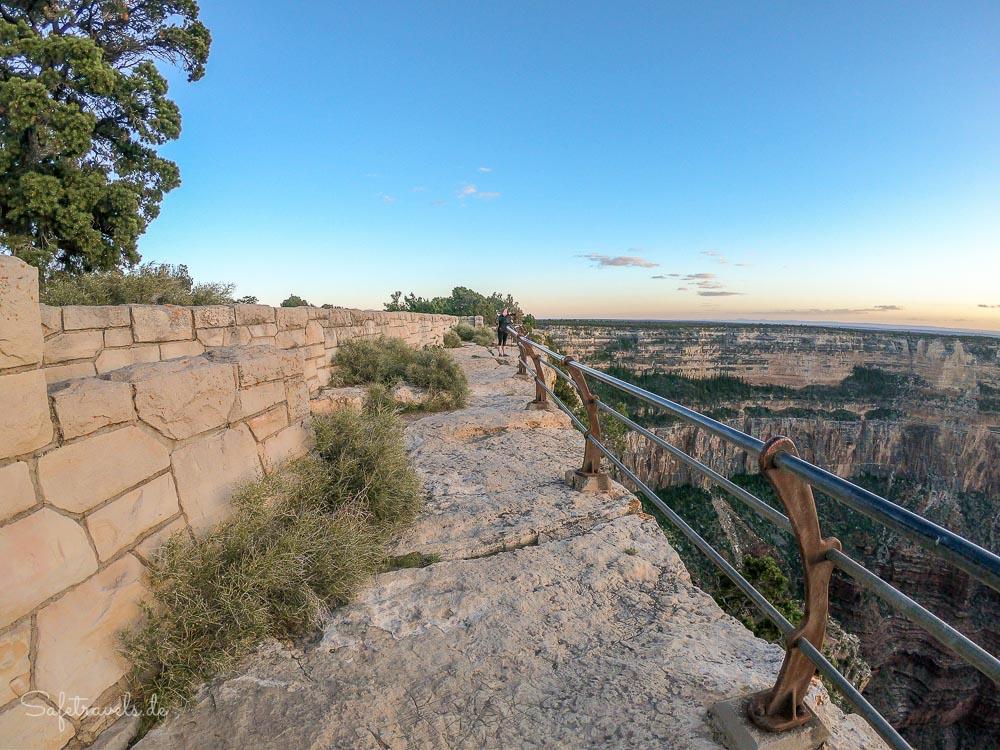 Aussichtspunkt für uns allein - Grand Canyon South Rim