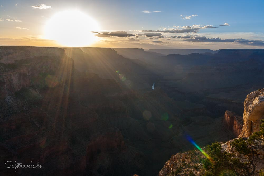 Goldene Sonne am Grand Canyon