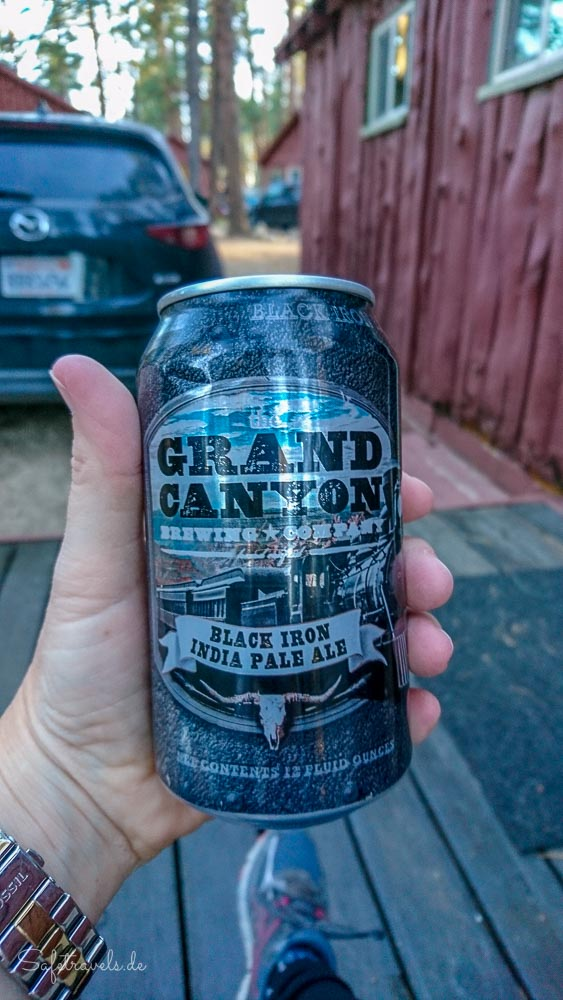 Grand Canyon Bier auf der Veranda - Jacob Lake Inn