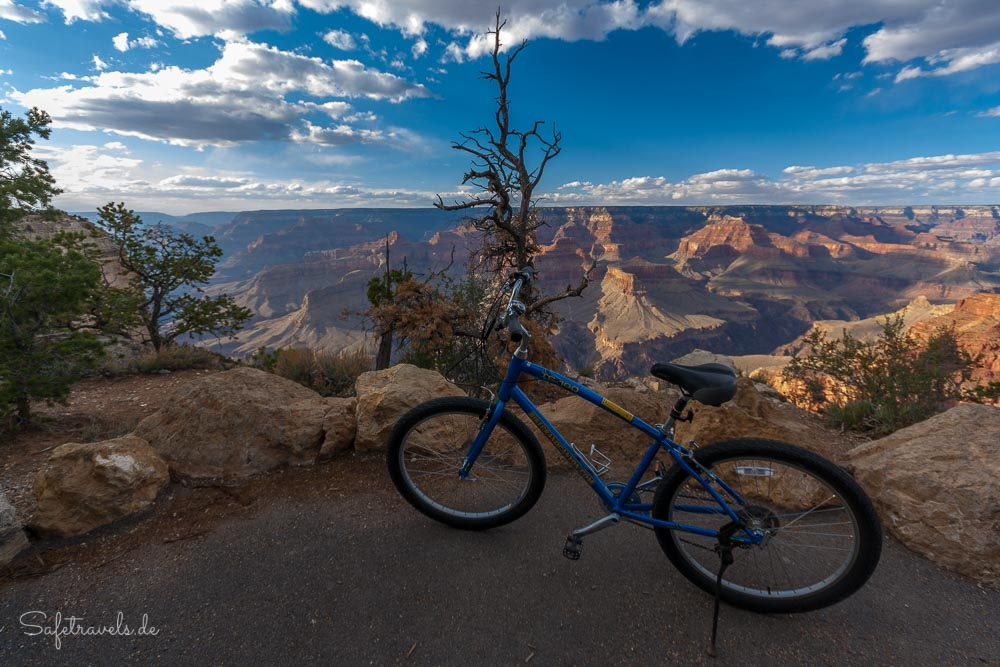 Grand Canyon Fahrradtour am South Rim