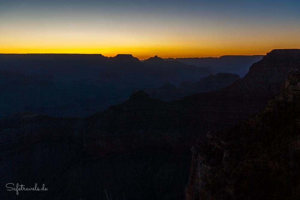 Grand Canyon Sonnenaufgang - Yavapai Point
