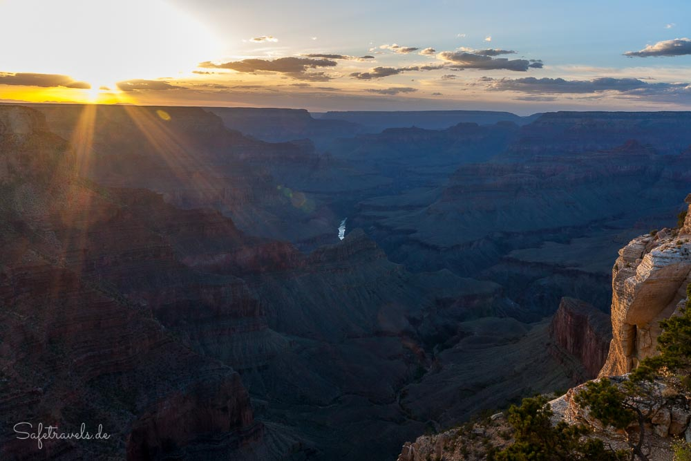 Grand Canyon Sonnenuntergang - South Rim