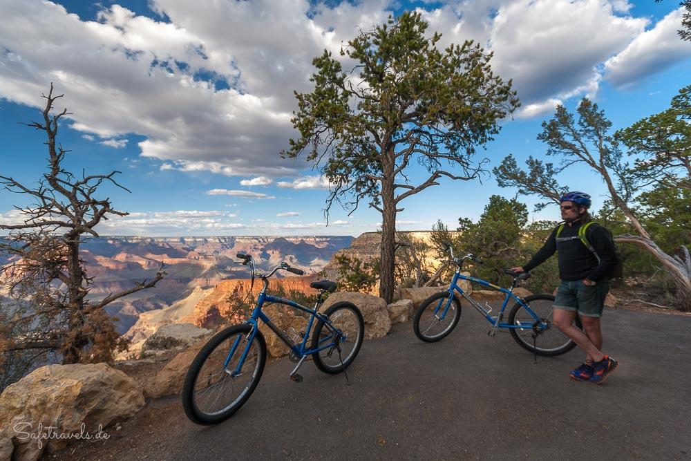 Grand Canyon South Rim - Auf dem Rim Trail mit dem Fahrrad