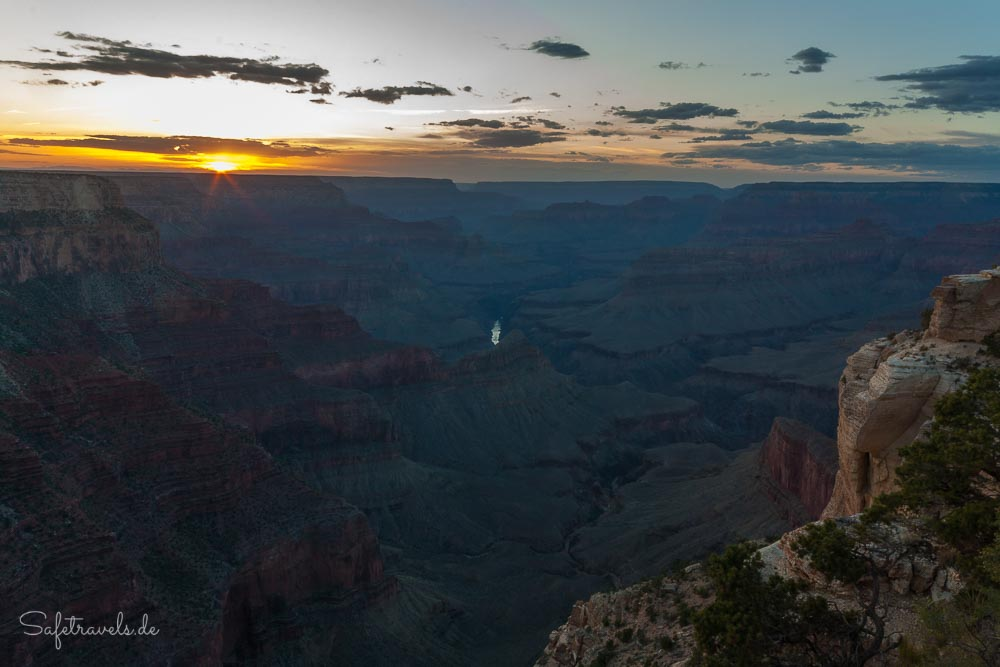 Grand Canyon South Rim - Sonnenuntergang Fahrradtour