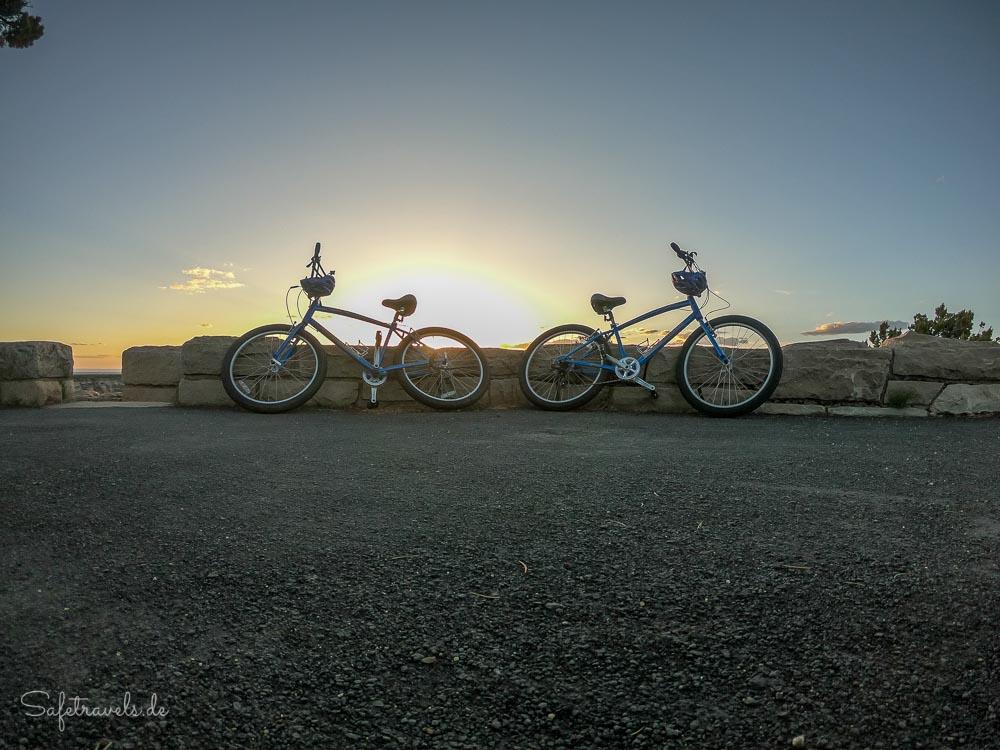 Unsere Fahrräder am Grand Canyon South Rim
