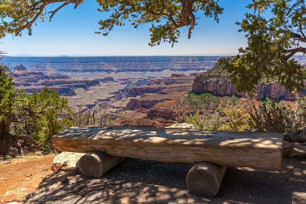 Bank am Transept Trail Grand Canyon North Rim