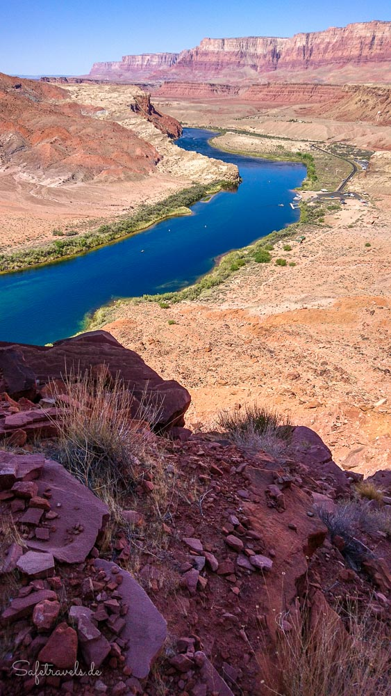 Lees Ferry und Boat Ramp am Colorado River