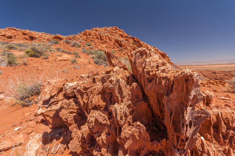 Sandsteinformation auf dem Plateau
