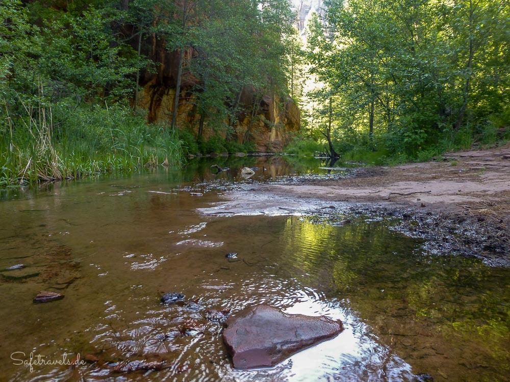 Eine der zahlreichen Flußdurchquerungen