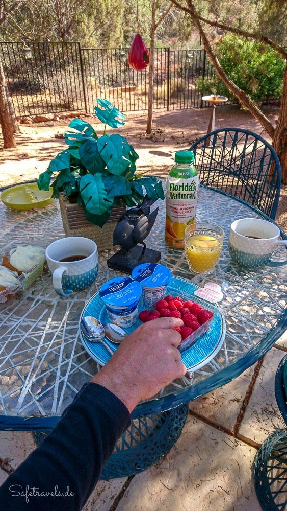 Frühstück in Sedona