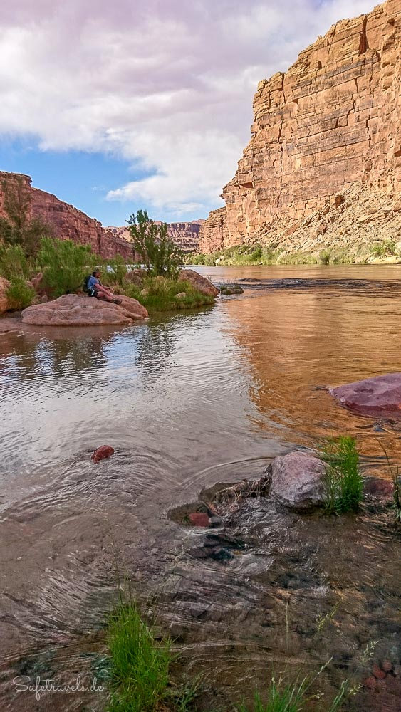 Pause am Colorado River - Cathedral Wash Trail