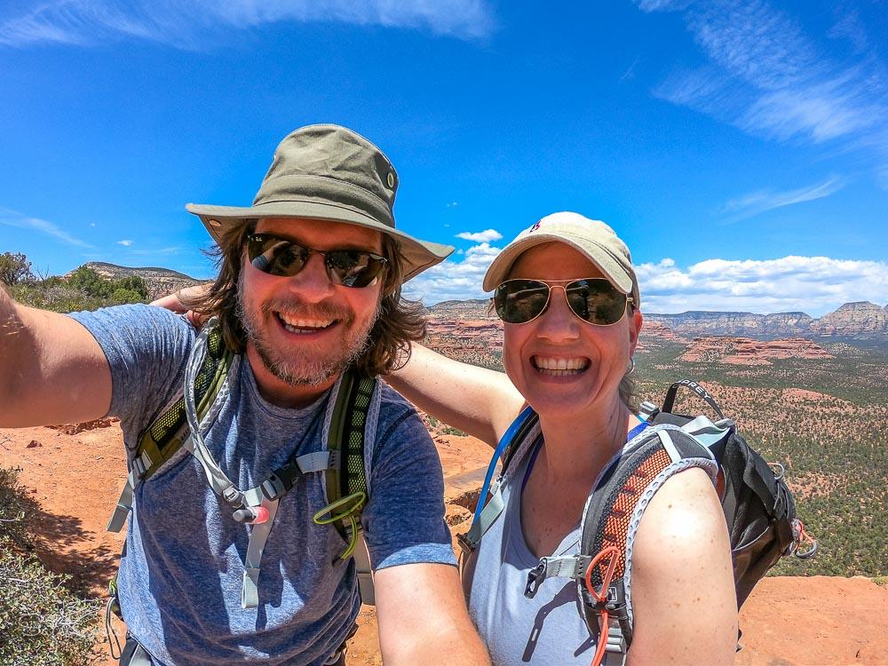 Posieren auf dem Doe Mountain