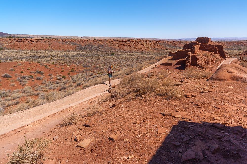 Rundweg am Wupatki Pueblo