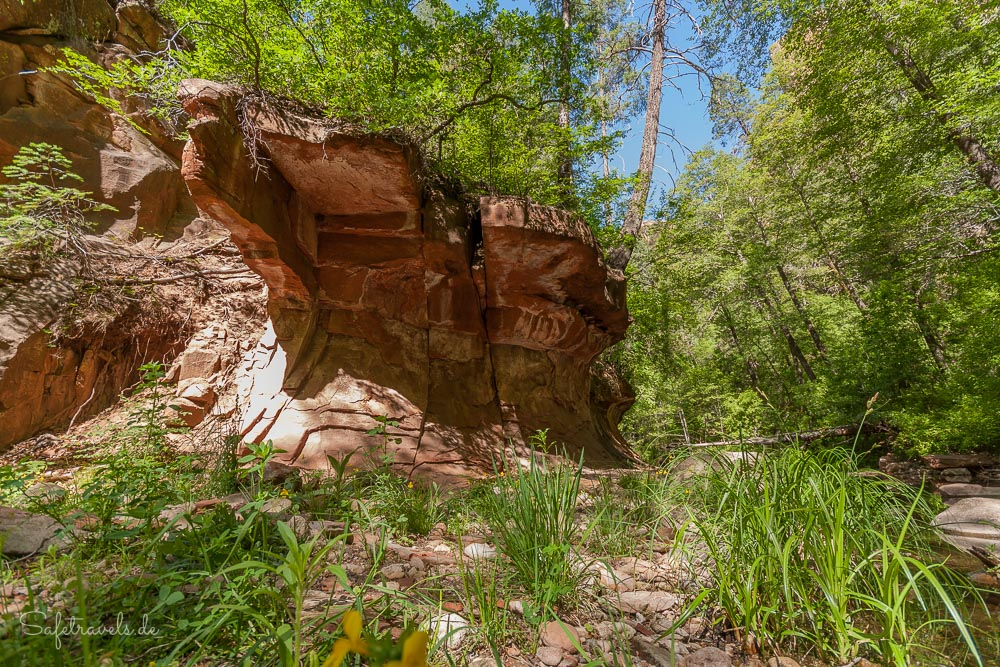 West Fork Oak Creek - interessanter Abschnitt
