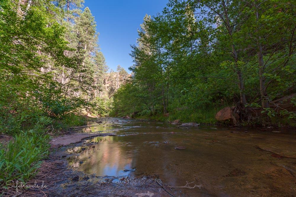 West Fork of Oak Creek - so sieht es die meiste Zeit auf dem Trail aus