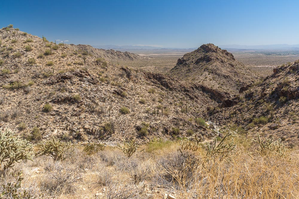 White Tank Mountains - Blick vom Mesquite Canyon Trail