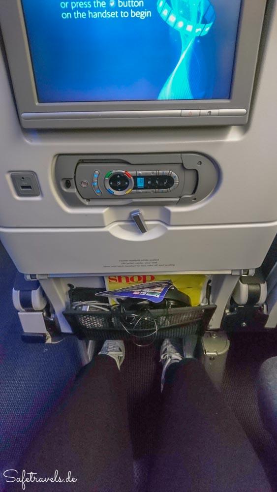 Im Oberdeck des A380 von British Airways