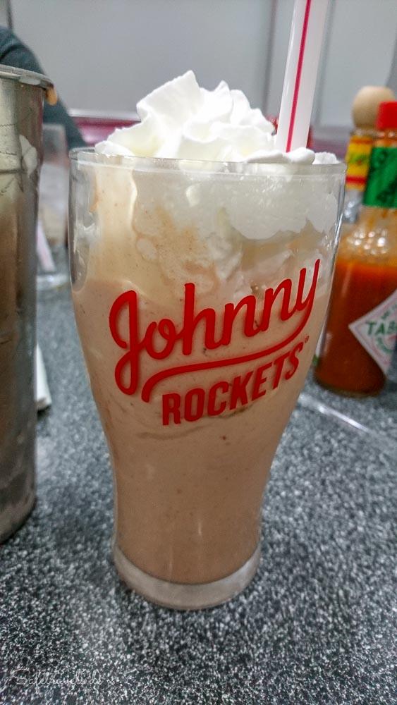 Johnny Rockets Shake zum Abschied