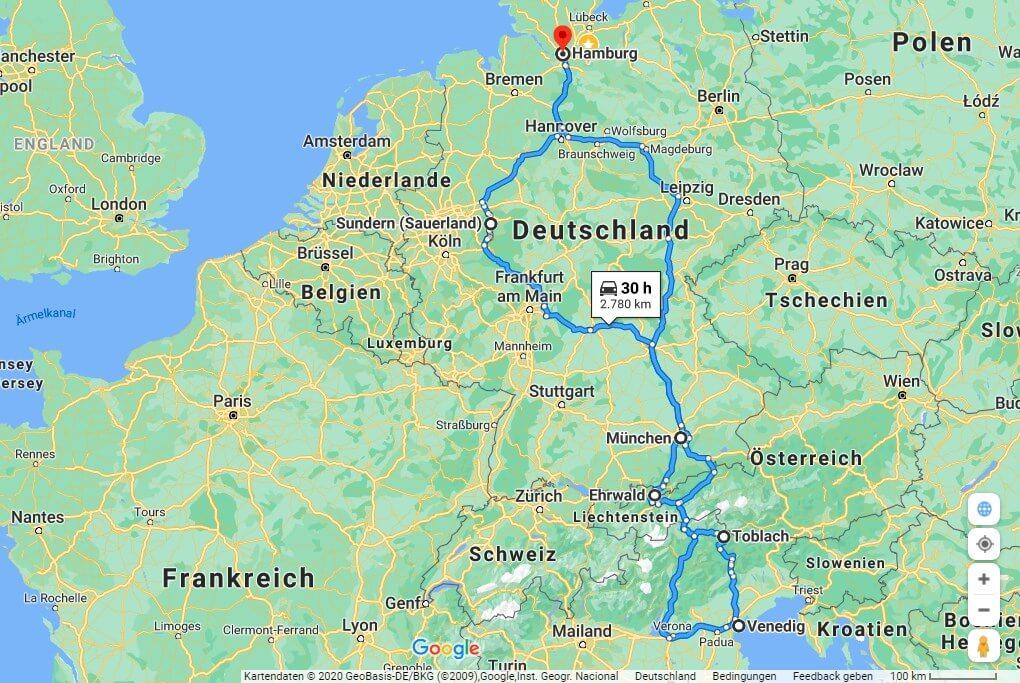 Alpen 2020 Route