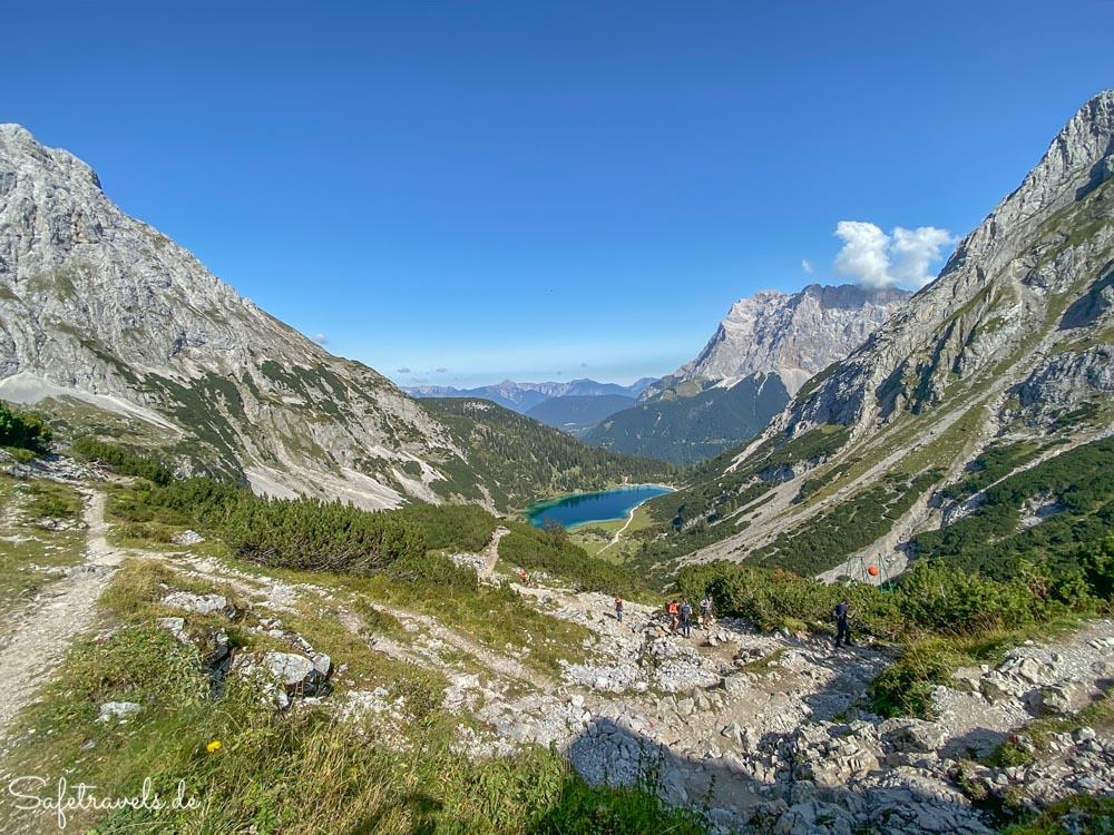 Seebensee und Zugspitze in Tirol