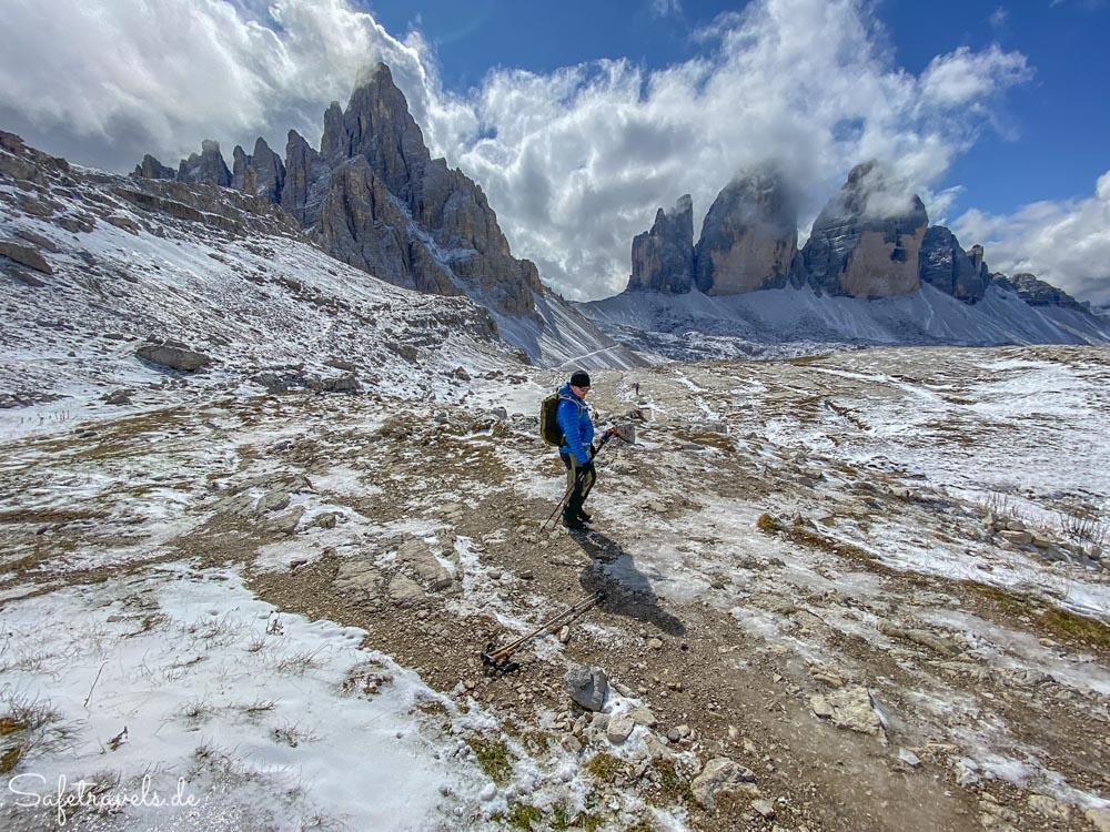 Wild und schroff - Wandern an den 3 Zinnen in den Dolomiten