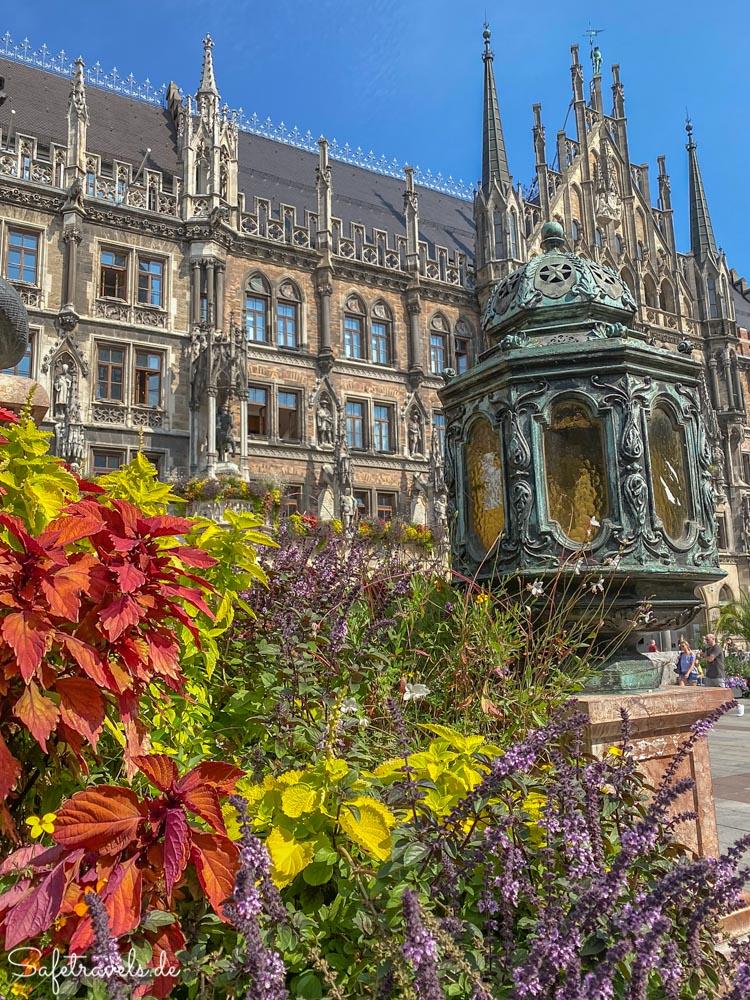 Neues Rathaus am Marienplatz in München