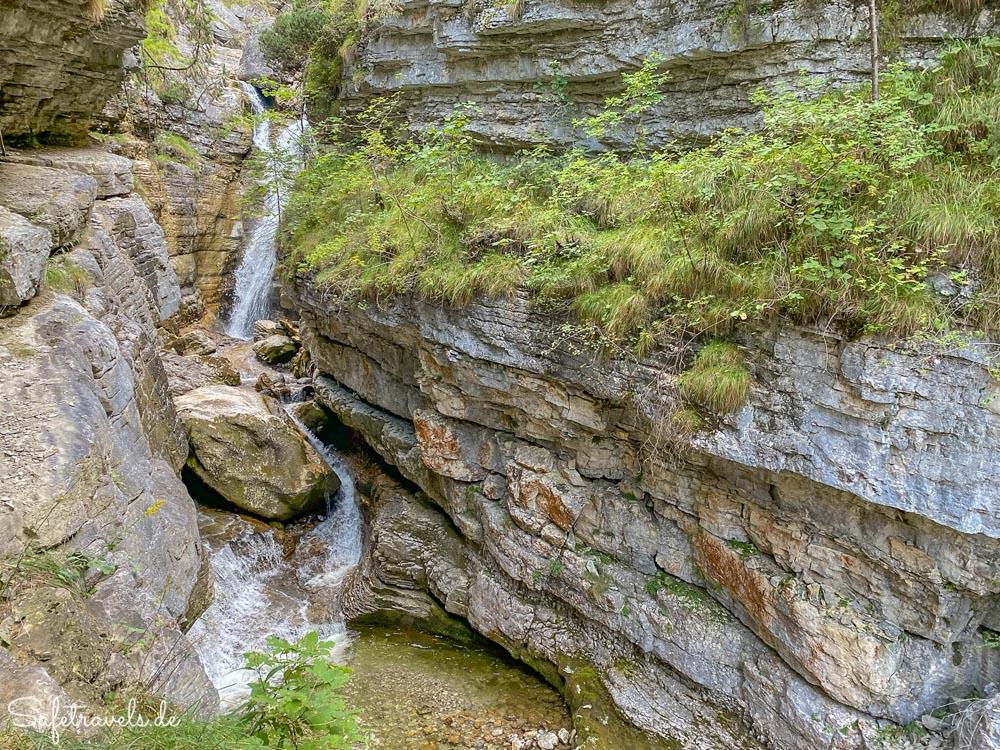 Oberste Kaskade der Kuhfluchtwasserfälle